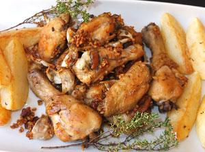 Курица в чесноке