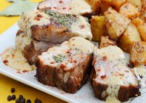 Ребрышки свиные в духовке с горчицей
