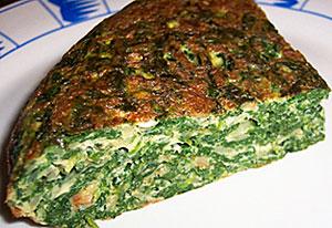 Тортилья со шпинатом