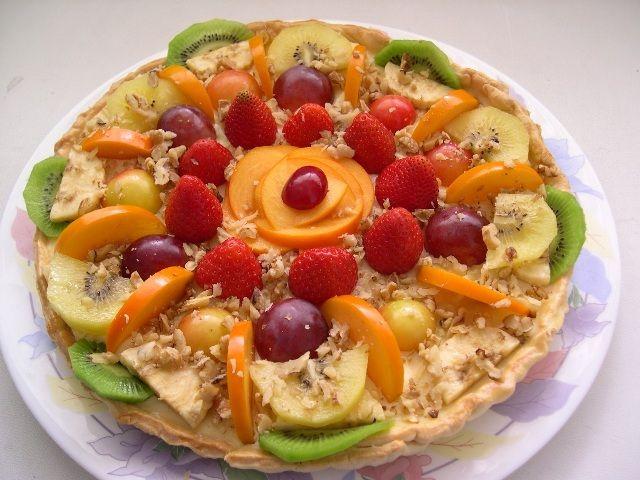 Торт из свежих фруктов