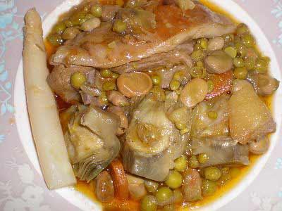 Овощи тушёные с бараниной