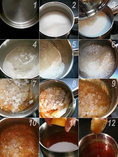 Как приготовить жидкую карамель