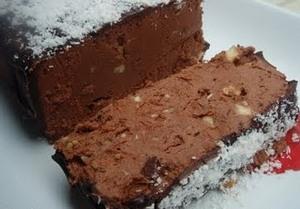 Пирог шоколадный с каштанами