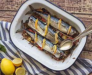 Рецепты скумбрии в духовке фото