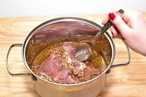 Блюда из свиного сердца на сковородке
