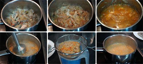 Суп с креветками фотография
